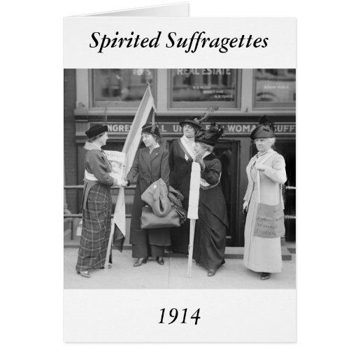 Spirited Suffragettes, 1914 Cards