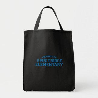 Spiritridge Grocery Tote (Black) Tote Bags
