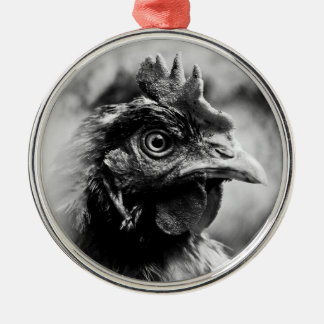 spirits and chickens metal ornament