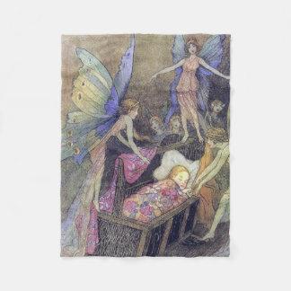 Spirits Baby Lullaby Warwick Goble Fine Art Fleece Blanket