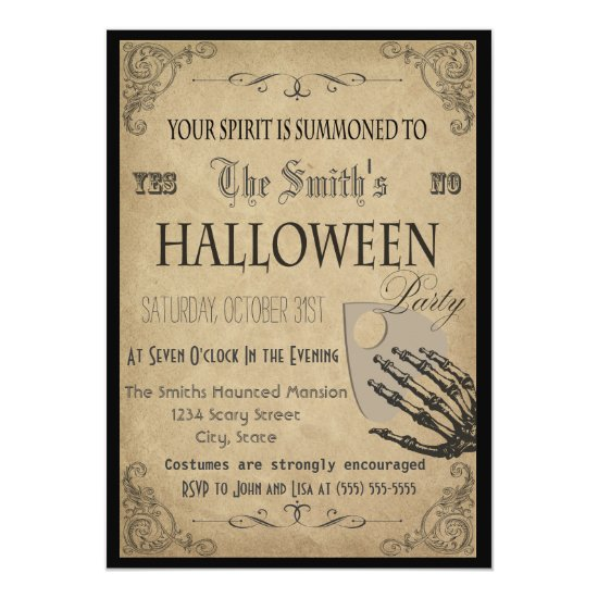 Spirits Halloween Party Invitation