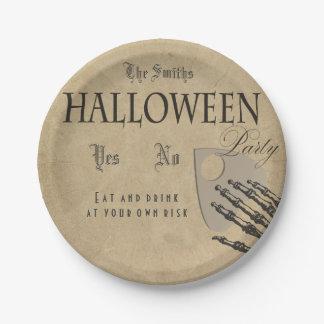 Spirits Halloween Plate 7 Inch Paper Plate