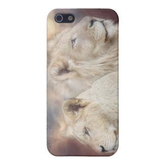 Spirits Of Light-White Lion Art Case for iPhone 4