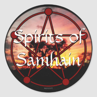 Spirits of Samhain Classic Round Sticker