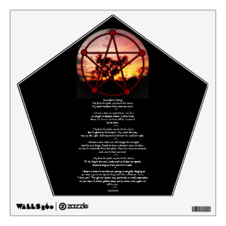 Spirits of Samhain Pentacle and Poem Room Graphic