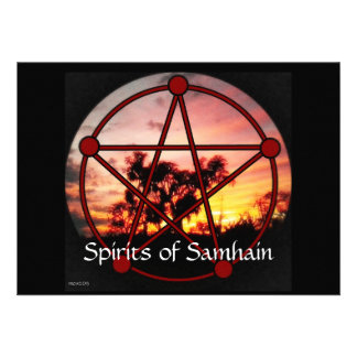 Spirits of Samhain Pentacle Custom Invitations