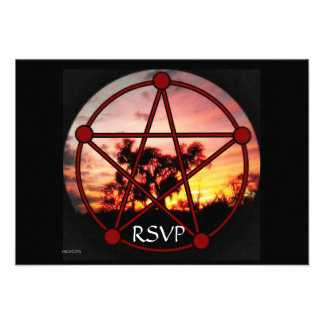 Spirits of Samhain Pentacle RSVP Personalized Announcements