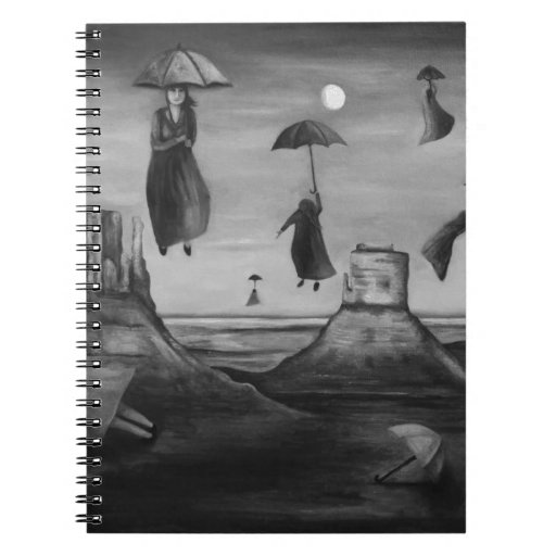 Spirits Of The Flying Umbrellas 2 BW Journals