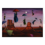 Spirits Of The Flying Umbrellas 2 Greeting Card