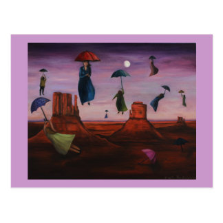 Spirits Of The Flying Umbrellas 2 Postcard