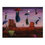 Spirits Of The Flying Umbrellas 2 Postcard