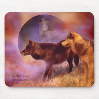 Spirits Of The Moon Wolf Mousepad