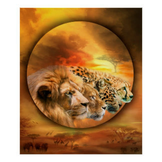 Spirits Of The Savannah Fine Art Poster/Print Poster