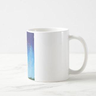 Spiritual abstract expressionist nature blue yello coffee mug