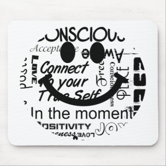 Spiritual affirmations smiley mouse pad