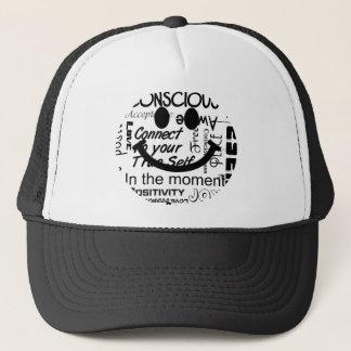 Spiritual affirmations smiley trucker hat