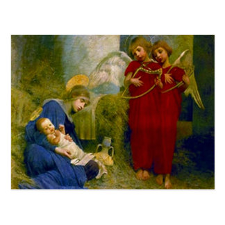Spiritual Angels Christmas Postcard