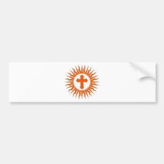 Spiritual Cross Design Bumper Sticker