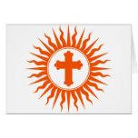 Spiritual Cross Design Card