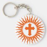 Spiritual Cross Design Key Chain