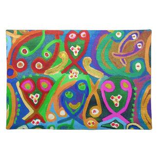 Spiritual Dance FineArt Cloth Placemat