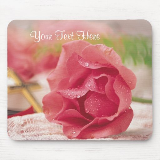 Spiritual Design Matches Easter Wishes Card Mouse Pad