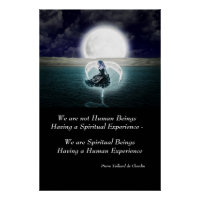 Spiritual Experience Quote Inspirational Wall Art