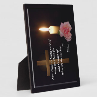 Spiritual Faith and Hope Verse Plaque