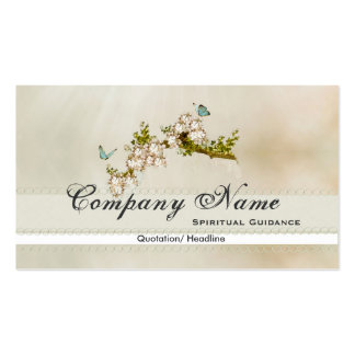Spiritual Flower Butterfly Business Cards
