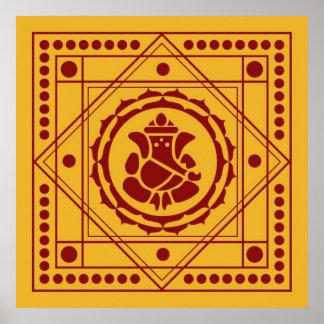 Spiritual Ganesha Design Poster