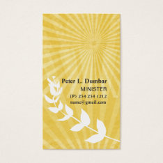 Spiritual  Gold Sunrise Religious Business Card at Zazzle