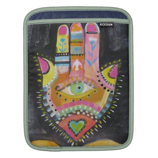 "Spiritual Hamsa Painting ""HAND of GOD"" Art iPad Sleeve"