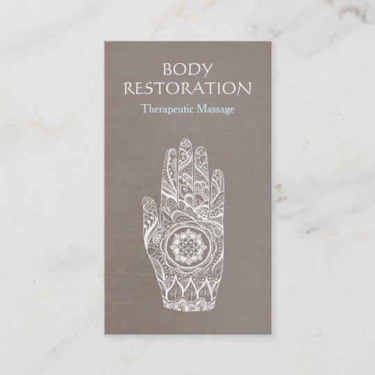 Spiritual Healer Henna Lotus Tattoo Hand 3 Business Card Zazzle Com