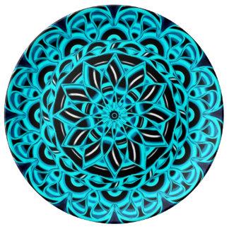 Spiritual Healing Flower Mandala Porcelain Plates