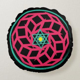 Spiritual Hexagram Neon Pillow