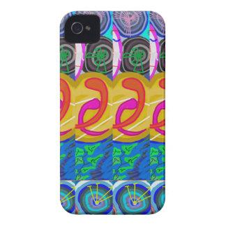 SPIRITUAL Hug:  Cosmic Discs Spiral Circles Deco Case-Mate iPhone 4 Cases