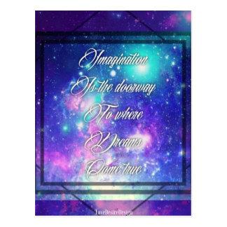 Spiritual Inspirational Dreams Come True Quote Postcard
