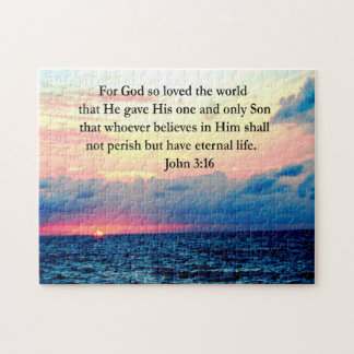 SPIRITUAL JOHN 3:16 PHOTO JIGSAW PUZZLE