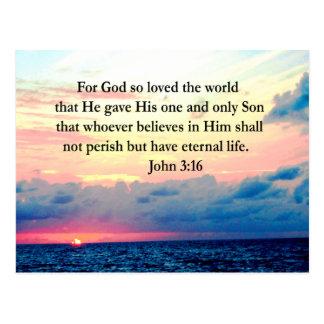 SPIRITUAL JOHN 3:16 PHOTO POSTCARD