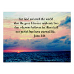 SPIRITUAL JOHN 3:16 PHOTO POSTER
