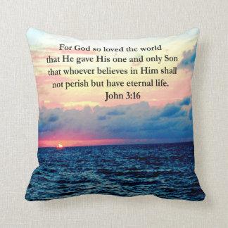SPIRITUAL JOHN 3:16 PHOTO THROW PILLOWS