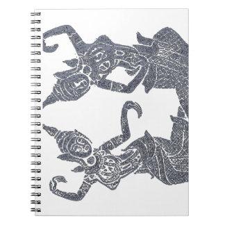 Spiritual Journal  Thai temple Rubbing design