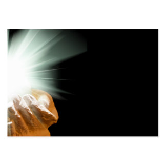 Spiritual light in cupped hands large business cards (Pack of 100)