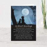 Spiritual Loss of Dog, Cat Sympathy Card with Poem
