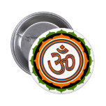 Spiritual Lotus Om Design 2 Inch Round Button