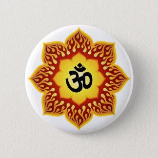 Spiritual Lotus Om Design Button