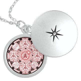 Spiritual Magick Symbol Talisman Round Locket Necklace
