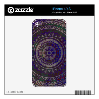 Spiritual mandala decals for the iPhone 4S