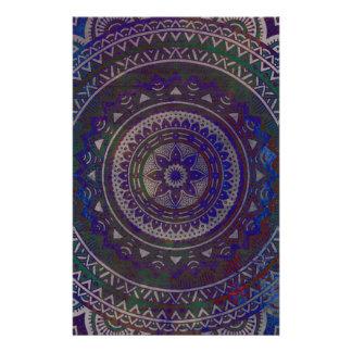Spiritual mandala stationery