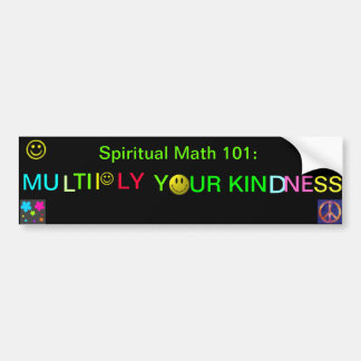 spiritual math 101-11hb bumper sticker